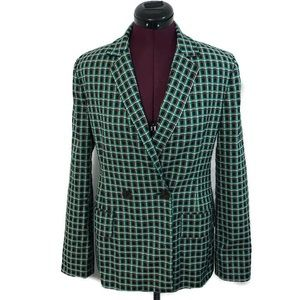 Zara Woman Plaid Checkered Blazer Jacket
